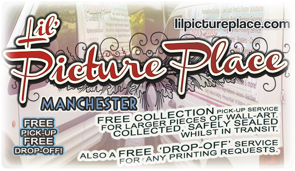 Free Delivery and Drop off for all artwork and frames.